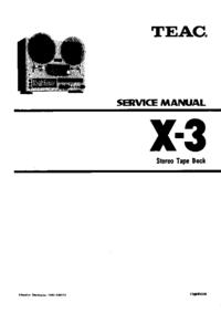 manuel de réparation Teac X-3