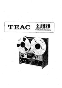 Руководство по техническому обслуживанию Teac A 3340