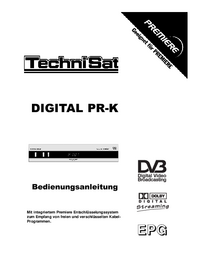 User Manual TechniSat DIGITAL PR-K
