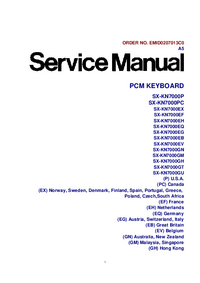 Service Manual Technics SX-KN7000EH