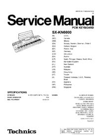 Manuale di servizio Technics SX-KN6000