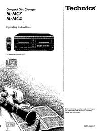 Manual do Usuário Technics SL-MC7
