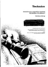 Manual del usuario Technics RS-BX601
