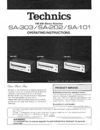 User Manual Technics SA-303