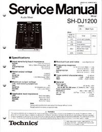 Manuale di servizio Technics SH-DJ1200