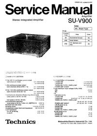 Instrukcja serwisowa Technics SU-V900