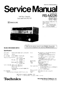 Service Manual Technics RS-M226