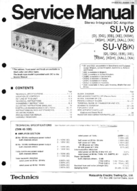 Service Manual Technics SU-V8