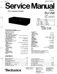 Manual de serviço Technics SU-V98