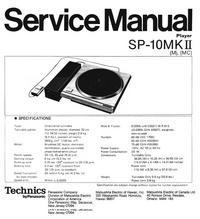Manual de servicio Technics SP-10MKII