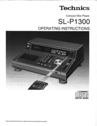 User Manual Technics SL-P1300