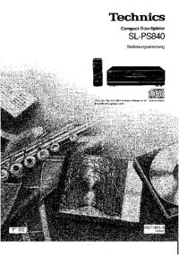 Руководство пользователя Technics SL-PS840