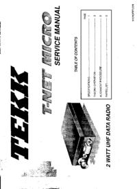 manuel de réparation Tekk T-Net Micro