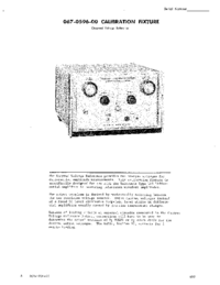 Serwis i User Manual Tektronix 067-0596-00 CALIBRATION FIXTURE