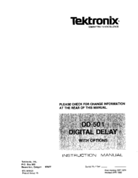 Servicio y Manual del usuario Tektronix DD 501