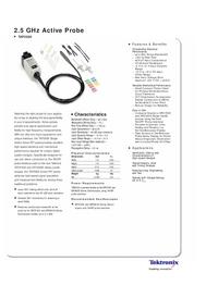 Dane techniczne Tektronix TAP2500