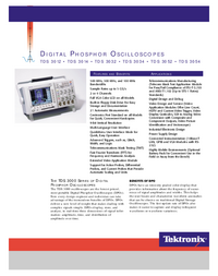 Datenblatt Tektronix TDS 3012