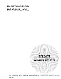 Servicio y Manual del usuario Tektronix 1121