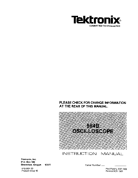 Service and User Manual Tektronix 564B
