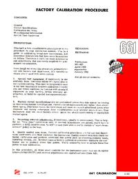 manuel de réparation Tektronix 661