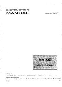 Service- und Bedienungsanleitung Tektronix 661