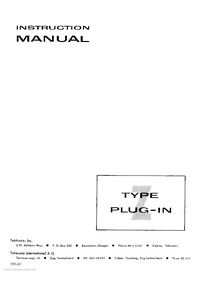 Service and User Manual Tektronix Type Z