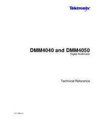 Service Manual Tektronix DMM4040