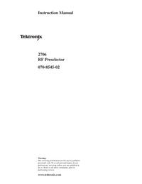 Service-en gebruikershandleiding Tektronix 2706