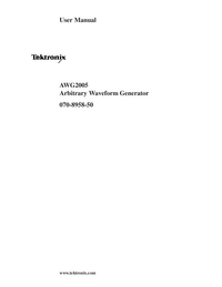 Manual do Usuário Tektronix AWG2005
