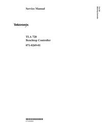 manuel de réparation Tektronix TLA 720