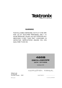 Tektronix-1310-Manual-Page-1-Picture