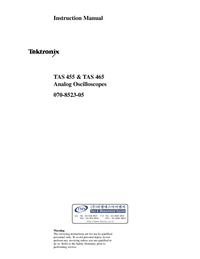 Manual del usuario Tektronix TAS 455