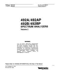 Manual de servicio Tektronix 492B