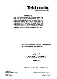Manual de serviço Tektronix 2236