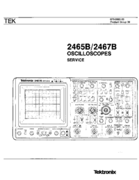 Service Manual Tektronix 2465B