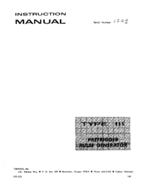 Manual de servicio Tektronix 111
