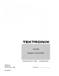 Manuale di servizio Tektronix 7A21N