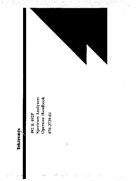 Manuale d'uso Tektronix 492