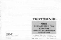 Service and User Manual Tektronix DMM44