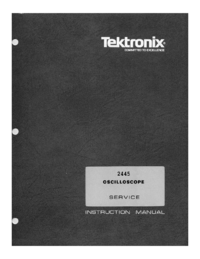 Service and User Manual Tektronix 2445