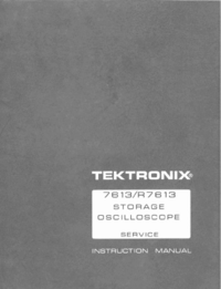 Manual de servicio Tektronix R7613