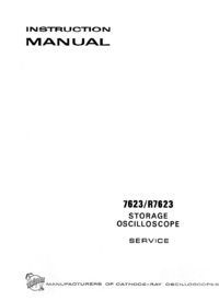 Serwis i User Manual Tektronix 7623