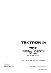 Servicio y Manual del usuario Tektronix 7D110