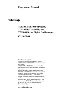 User Manual Tektronix TDS2MEM
