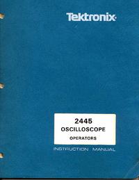 Instrukcja obsługi Tektronix 2445