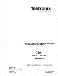 Service Manual Tektronix 7904