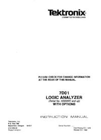 Service Manual Tektronix 7D01