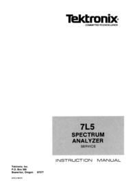 Service Manual Tektronix 7L05