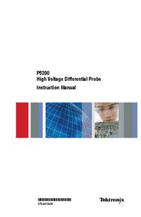 Servicehandboek Tektronix P5200
