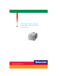 Manual del usuario Tektronix Phaser 850